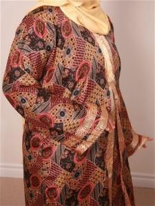 Modest Stylish Gowns Coloured Kaftan Dress