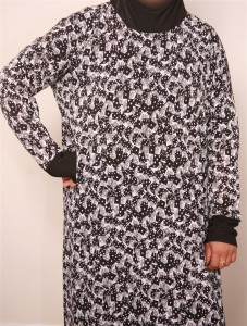 Modest Stylish Pattern Morocco Kaftan Dress