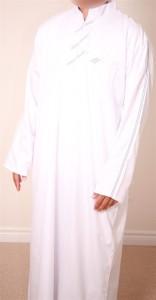 Abayaz Stripe Jubba White