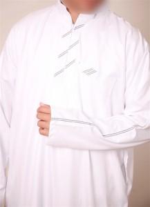 White Abyaz Stripe Jubba