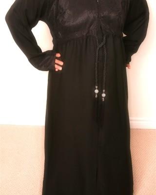 Dazzling drawstring Abaya